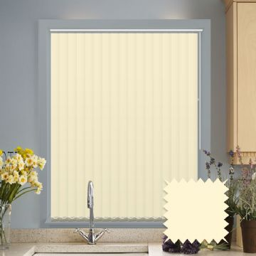 Made to Measure Vertical Blinds in PVC Blackout fabric - Cream